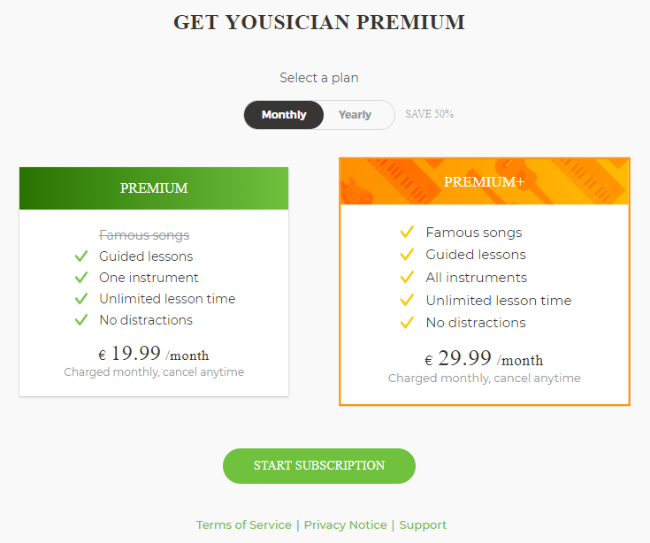 yousician premium plan